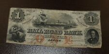 Erie & Kalamazoo Rail Road Bank $1 Obsolete Note - Adrian MI  Aug 1st, 1853