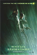 MATRIX REVOLUTIONS MOVIE POSTER  MORPHEUS ADVANCE STYLE ORIGINAL 2 SIDED