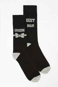 2 PAIRS OF Wedding Socks Groom & Best Man Black 1 pair of each New Size 7 to 11