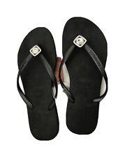 Havaianas Womens Sandals Flip Flops Thong Rubber Black Size 39-40 US 9-10