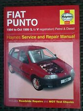 Fiat punto haynes workshop manual 1994-1999 petrol and turbo diesel inc selecta