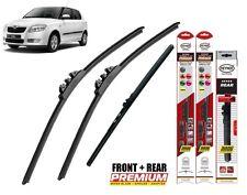 "Skoda Fabia Hatchback 2006-2014 full set windscreen wiper blades 21""21""12"""