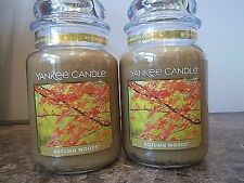 Lot of 2  Yankee Candles  ~Autumn Woods~ 22 oz. NEW   VHTF   Rare    Free Ship