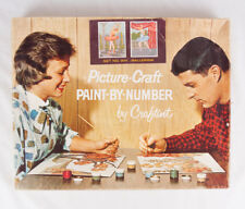 COMPLETE Vintage Picture Craft Paint By Number set, Ballerina #304, 1962