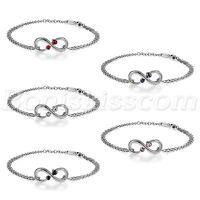 Stainless Steel Love Infinity Symbol Charm Womens Chain Bracelet Anklet For Gift
