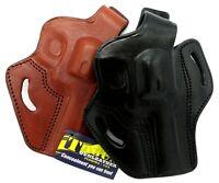 TAGUA RH OWB Leather Thumb Break Belt Holster for REVOLVERS - Choose Gun & Color