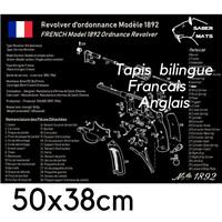 TAPIS DE NETTOYAGE Revolver réglementaire 1892 en français !