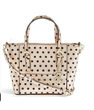 BNWT GUESS Delaney Rose Gold 4G Polka Dot Mini Tote Crossbody Purse Handbag