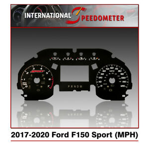 2017 - 2020 Ford F-150 XLT Sport Speedometer Faceplate (MPH)