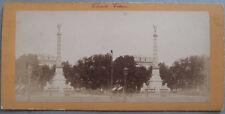 Photo Stéréo Albuminé Paris Fontaine du Chatelet Vers 1880