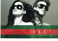 PUBLICITE ADVERTISING 094  2009   GUCCI  collection lunettes solaires ( 2 pages)