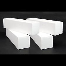 """4x Styrofoam Blocks 10"""" x 2"""" x 2"""" White EPS Polystyrene Block 998-025x4"""