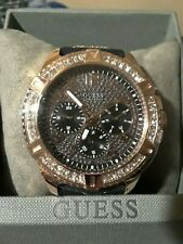 NEW WITH TAGS GUESS WATCH ROSE GOLD WITH BLACK STRAP