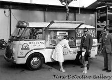 A Gelato Ice Cream Truck, Bologna, Italy - 1958 - Historic Photo Print