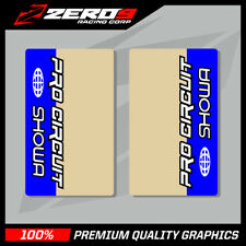 SHOWA UPPER FORK DECALS MOTOCROSS GRAPHICS MX PROCIRCUIT CLEAR BLUE