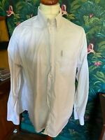 Mens Ben Sherman White Long Sleeve Shirt Large Button Down Collar