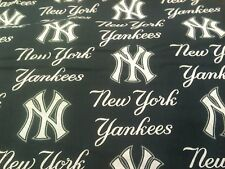 """100% Cotton Fabric New York Yankees Fabric 58"""" Wide MLB Licensed Sold BTY"""