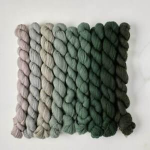 Appletons Crewel Wool Yarn – Jacobean Green 291 – 298 - 180m Full Hanks