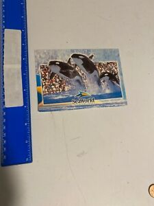 Postcard Sea World 3 Killer Whales Leaping Orca 52A-325C
