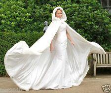 2018 Long Faux Fur White Bridal Hooded Cloak Cape Winter Wedding Dress Wraps