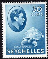 Seychelles1938 blue 30c chalk-paper multi-script mint SG142a