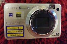 Sony Cyber-shot DSC-W150 8.1 MP Digital Camera  Silver w/ Memory +Samsonite case