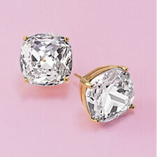NEW KATE SPADE ROUND SQUARE CUSHION STUD EARRINGS GOLD $38