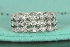 $9,300 Tiffany & Co Jazz Swing Platinum Round Diamond Eternity Wedding Band Sz 4