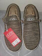 Hey Dude Men's Wally Sox Brown Shoes 110351500 sz Us 9