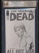 Walking Dead #115! 2x Signed Sketched Mychael PGX 9.8! SEE PICS AND DETAILS! WOW