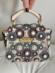 $395 Zac Posen Pearl Floral Mini Crossbody bag