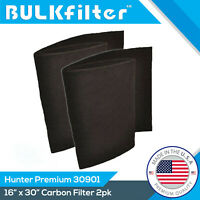 HUNTER 30901 2 PACK Carbon Pre filter replacement by BulkFilter fits HEPAtech