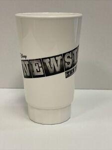 NEWSIES Broadway DISNEY Musical SIPPY CUP Plastic Wine Pint Glass! JEREMY JORDAN