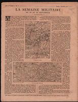 WWI Carte Bataille d'Artois/Champagne Village d'Ecurie Poilus 1915 ILLUSTRATION