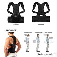 Posture Corrector Support Magnetic Back Brace Adjustable Shoulder Belt Men Women