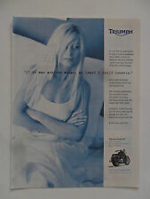 2004 Print Ad TRIUMPH Rocket III Motorcycle ~ I Could Compete With Another Woman