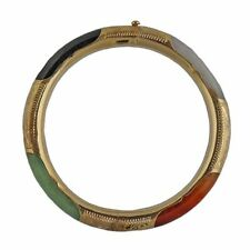 Jade Hinge Multi Color Bracelet With Safety Chain