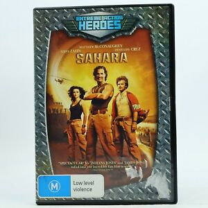 Sahara Matthew McConaughey Penelope Cruz DVD Good Condition Free Tracked Post