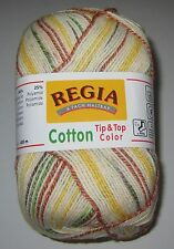 100 gram ball of REGIA 4 ply COTTON TIP TOP COLOR Sock knitting Yarn #4085