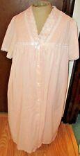 "NWOT Adonna Size M Short Pink Cotton Blend Robe & Gown Set, 42+"" Bust 42"" Long"