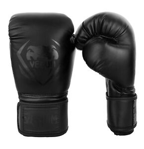 Venum Contender Boxing MMA Gloves Black / Black 16oz