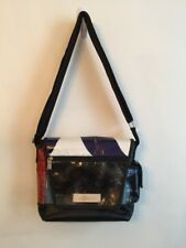 Vy and Elle Recycled Billboard and Seatbelt Messenger Crossbody Bag Upcycled