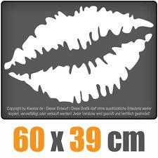Kussmund  chf0487 weiß 60 x 41 cm Heckscheibenaufkleber chf