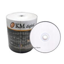 WHOLESALE 500 16x White Inkjet HUB Printable Blank DVD-R Media Disc FAST SHIP