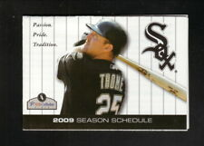 Jim Thome--Chicago White Sox--2009 Pocket Schedule--Athletico
