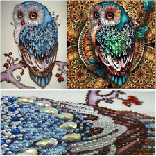 2 Pack Full Drill 5D Diamond Painting Owl Cross Stitch Kit Embroidery Home Decor