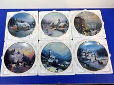 Thomas Kinkade Yuletide Memories , Six Plates, Coa, Original Packaging