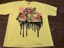 The Muppets DJ Animal XL Yellow T Shirt