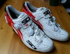 Sidi Wire Vent Carbon Air Vernice-Men's Road Cycling Shoes 45 US 10.5 white-red