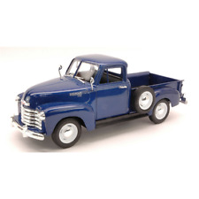 CHEVROLET 3100 PICK UP 1953 BLUE 1:24 Welly Auto Stradali Die Cast Modellino
